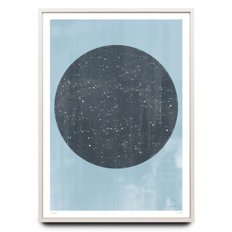 Celestial sky design on blue limited edition print