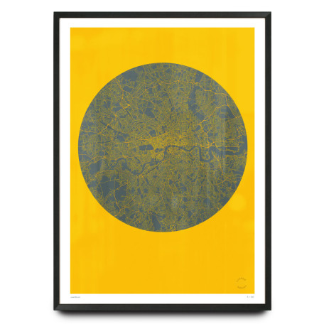 Graphic London map poster