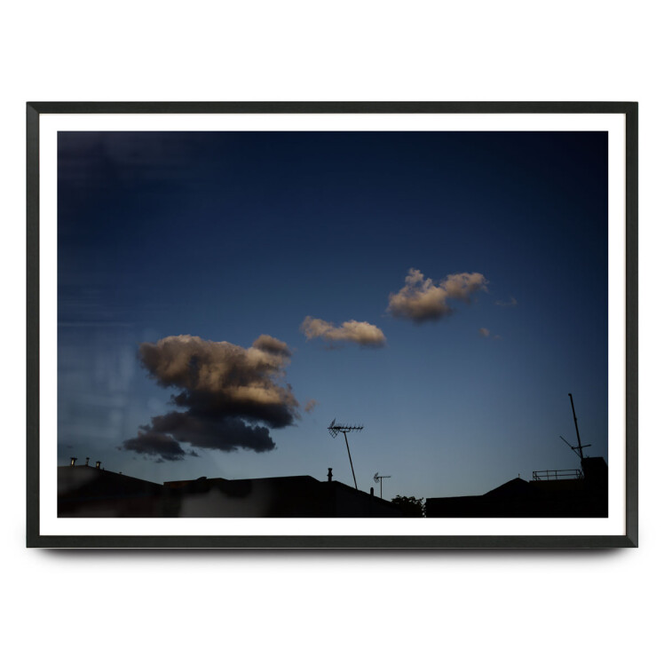 Aerial / London rooftops with cloud limited edition print