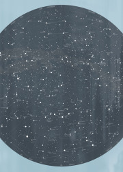 Celestial sky design on blue limited edition print