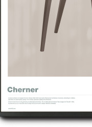 Illustration of Cherner Chair limited edition print