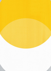 Overprinted yellow and white circles limited edition print.