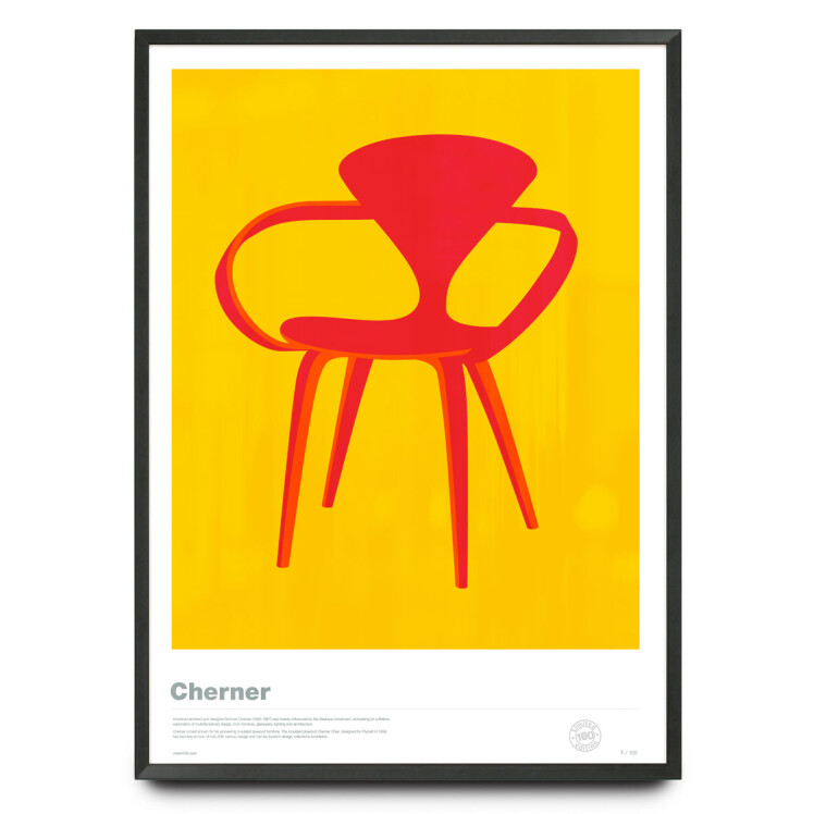 Sylized illustration of Cherner Chair