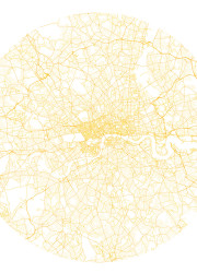 Minimalist London map limited edition print