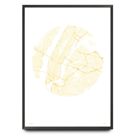 Minimalist New York City map limited edition print