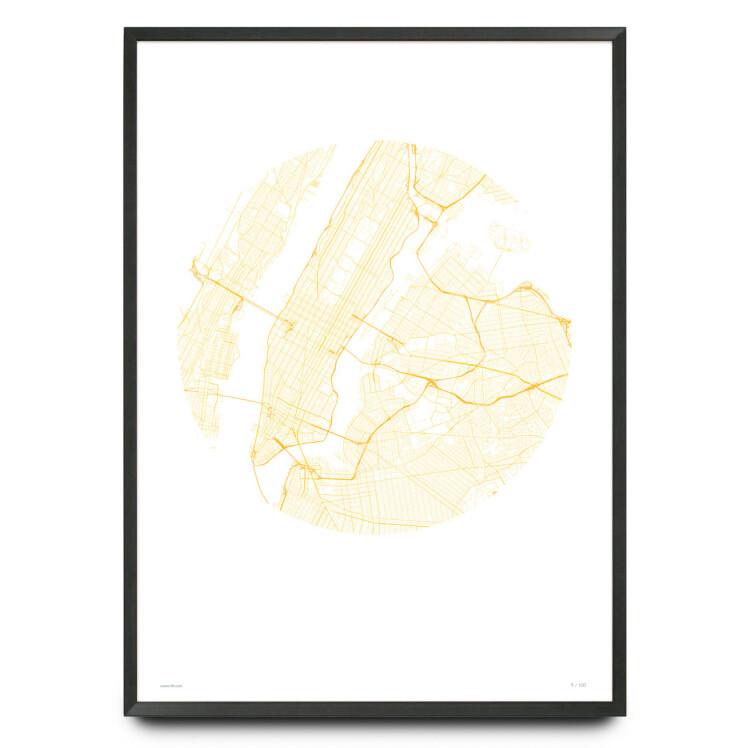 Minimalist New York City map limited edition print