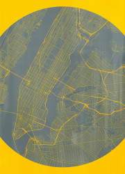 New York city map limited edition print