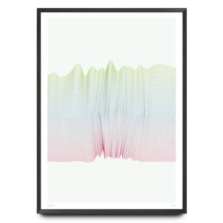 Electric waves 2 design limited edition print