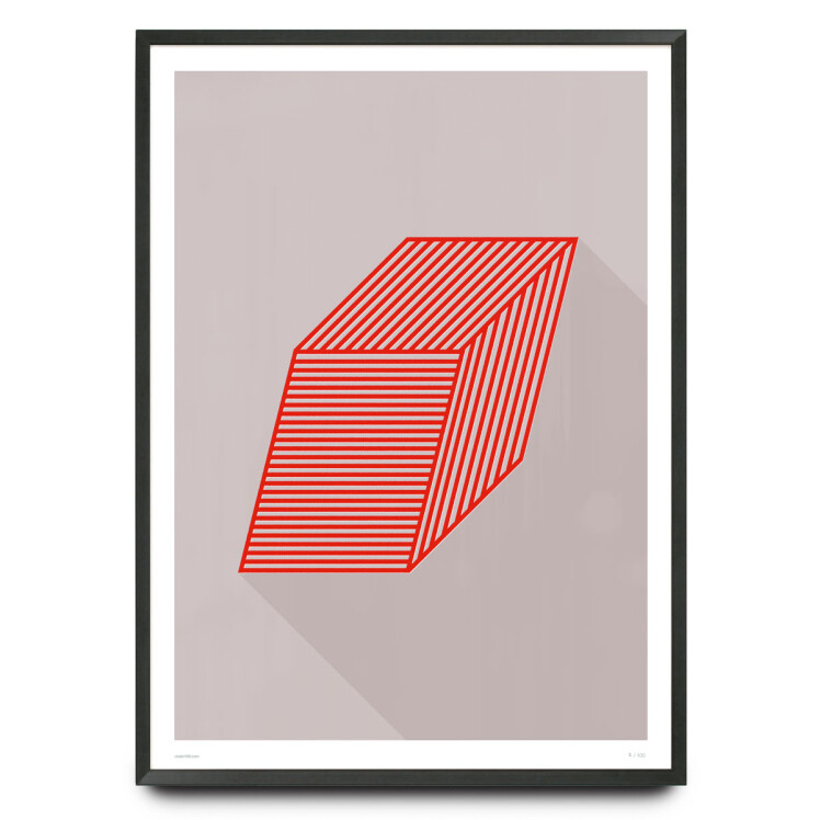 Boxed graphic design limited edition print