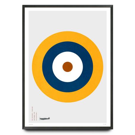 Spitfire RAF roundel design limited edition print