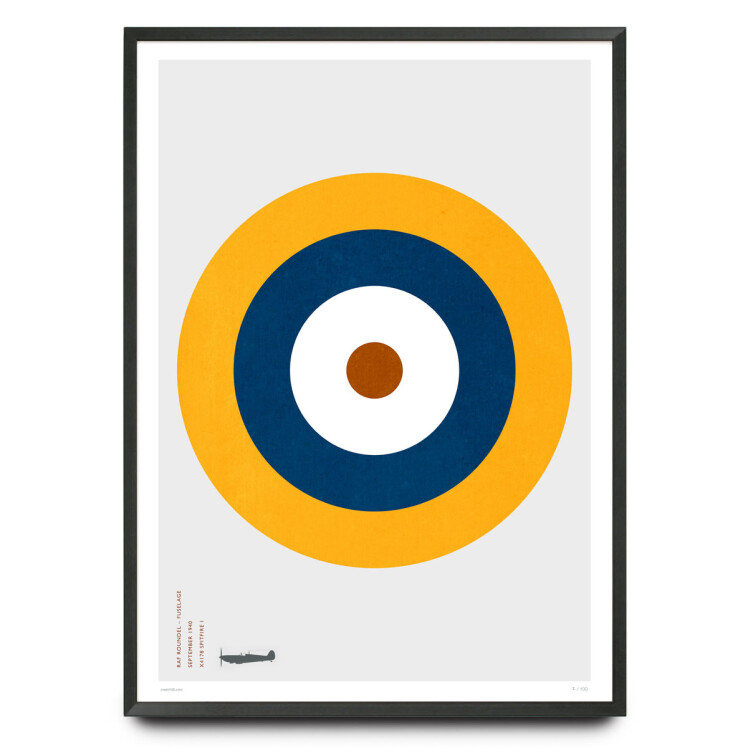 Spitfire RAF Type A.1 roundel design limited edition print