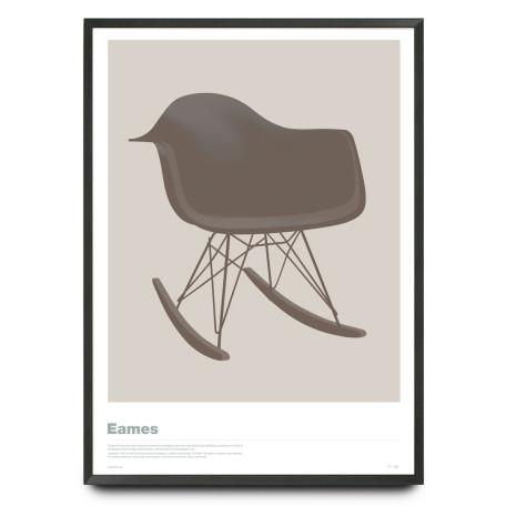 Eames RAR chair illustration limited edition print