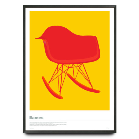 Eames RAR chair illustration limited edition print