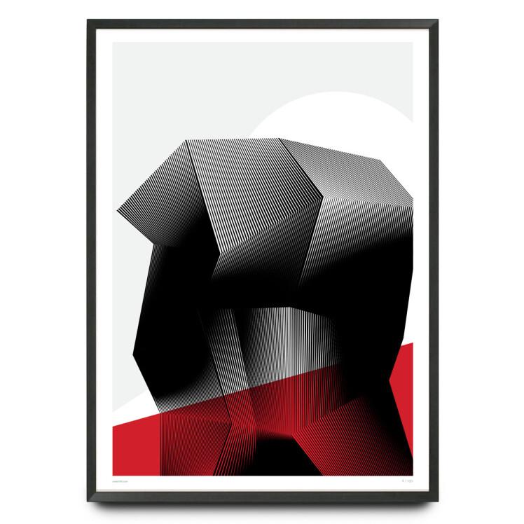 Brutalism meets op art limited edition print