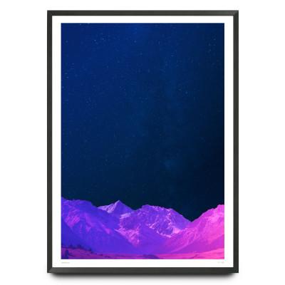 Hyper real mountain sky