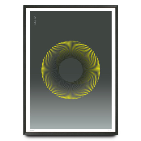 Radial Sun limited edition design print