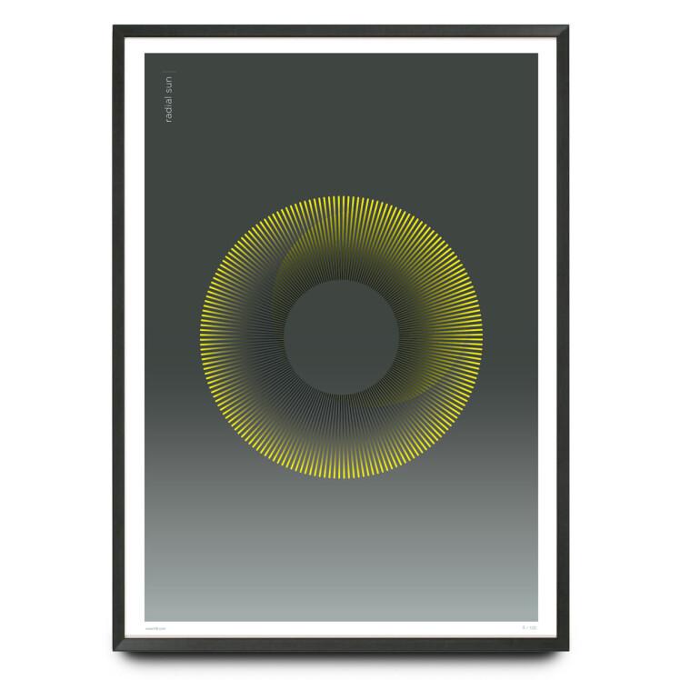 Radial Sun limited edition design print